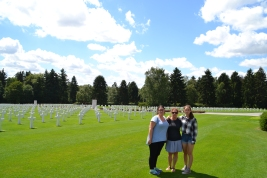Krueger family at American Cemetery in Luxembourg